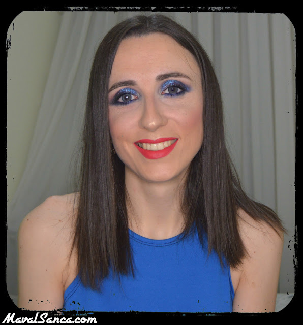 Maquillaje de Noche: Ahumado Azul Tornasolado / Night Makeup: Iridiscent Blue Smoky Eyes