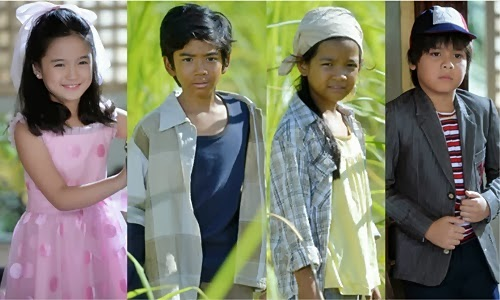Ikaw lamang child stars: Alyanna Angeles, Zaijian Jaranilla, Xyriel Manabat and Louise Abuel