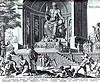 desenho do templo e da estátua de Zeus