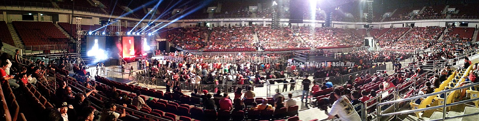 Panoramic view of WWE Live Malaysia