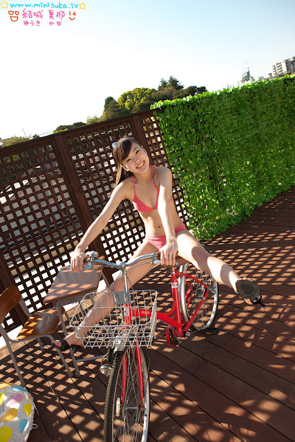 Kana Yuuki on bicycle Cute Abis