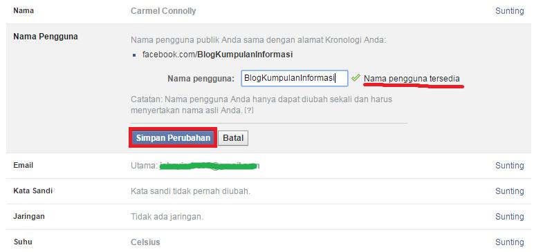 Cara Login Facebook Tanpa Email atau Telepon | Nama Pengguna