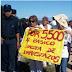 La policía reprimió a los docentes oranenses en la ruta 50