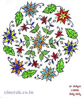 Telugu Muggulu Designs