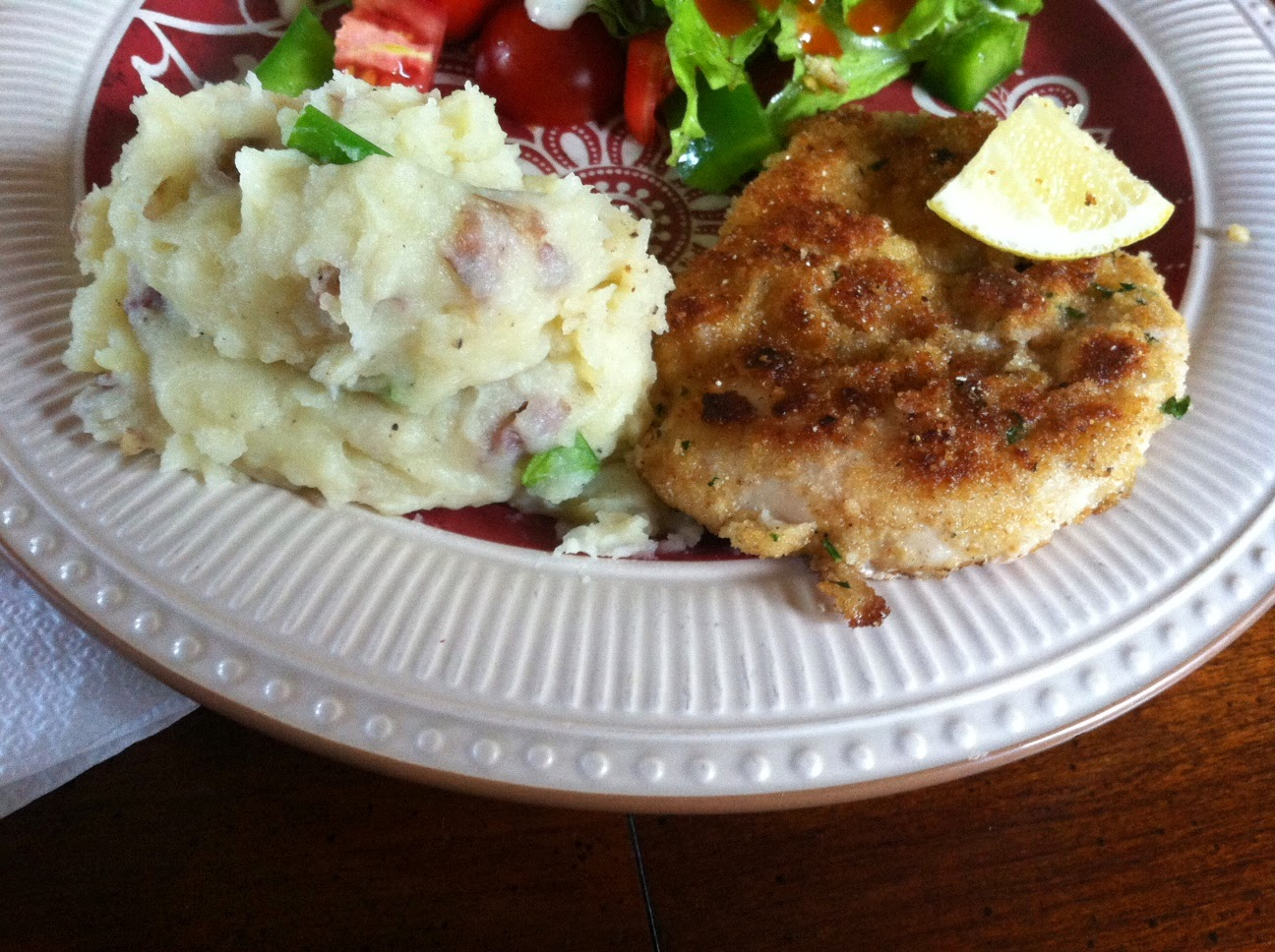 """Point-less"" Meals: Chicken Schnitzel with Mustard Mashed ..."