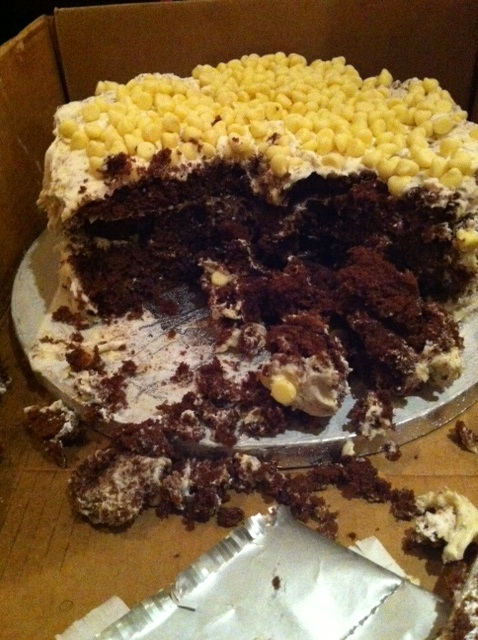 Devils food cake with marshmellow frosting. | Charlene Flash