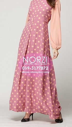 NBH0406 HANINA MAXI DRESS (NURSING FRIENDLY))