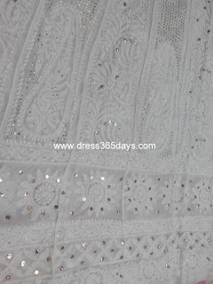 Wedding bridal Chikankari