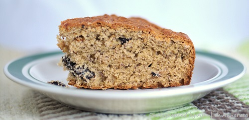 Eggless Banana Chocolate Chip Cake