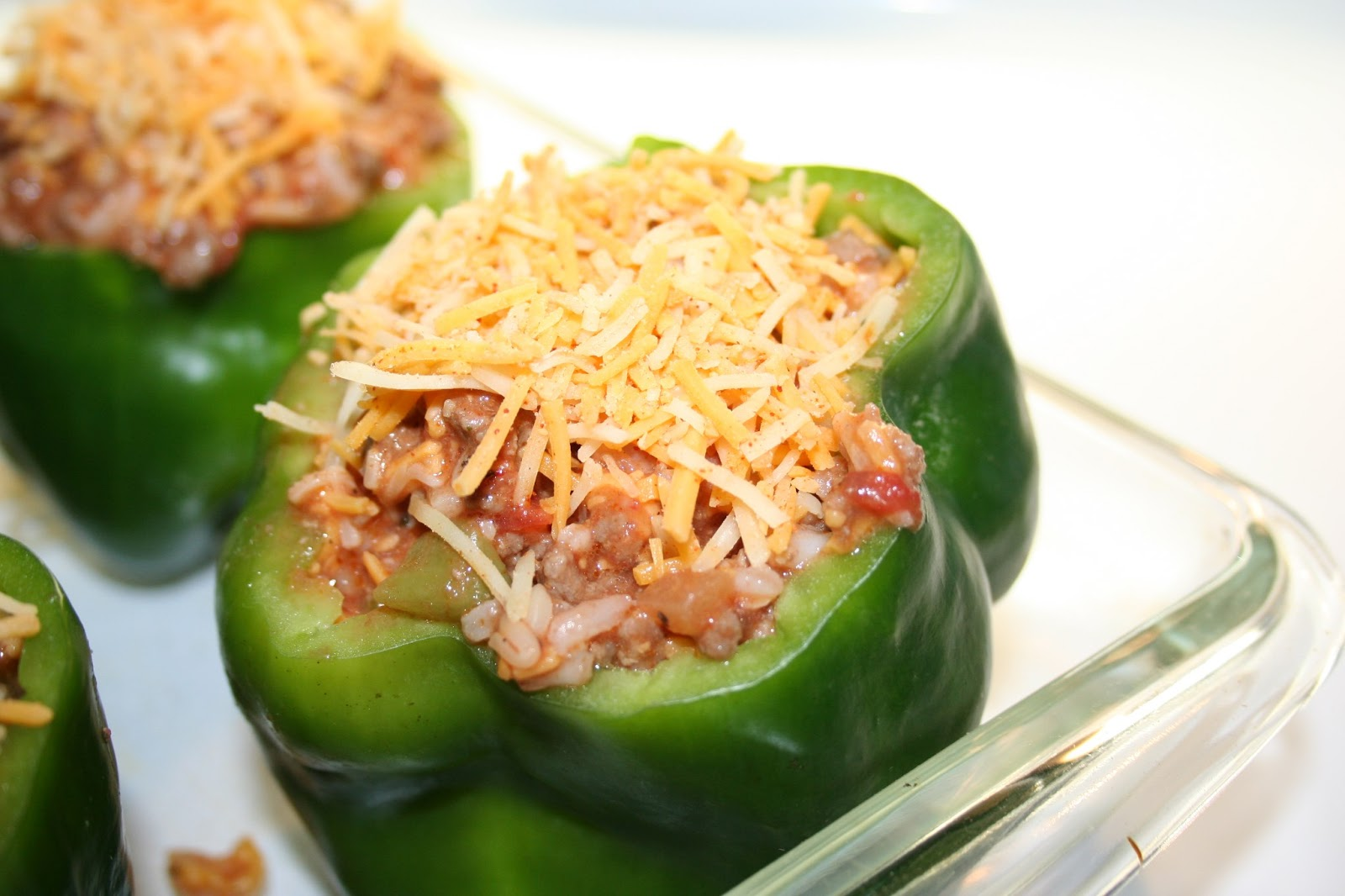 chicken scratch poultry: Stuffed Green Bell Peppers