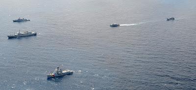 En el ejercicio naval también participaron unidades anfibias y logísticas como el ARC Golfo de Tribugá y el ARC Juanchaco.