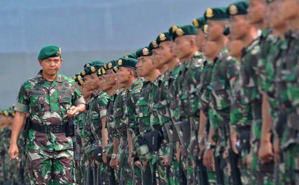 TNI Diterjunkan Ratusan Prajurit di Perbatasan Malaysia
