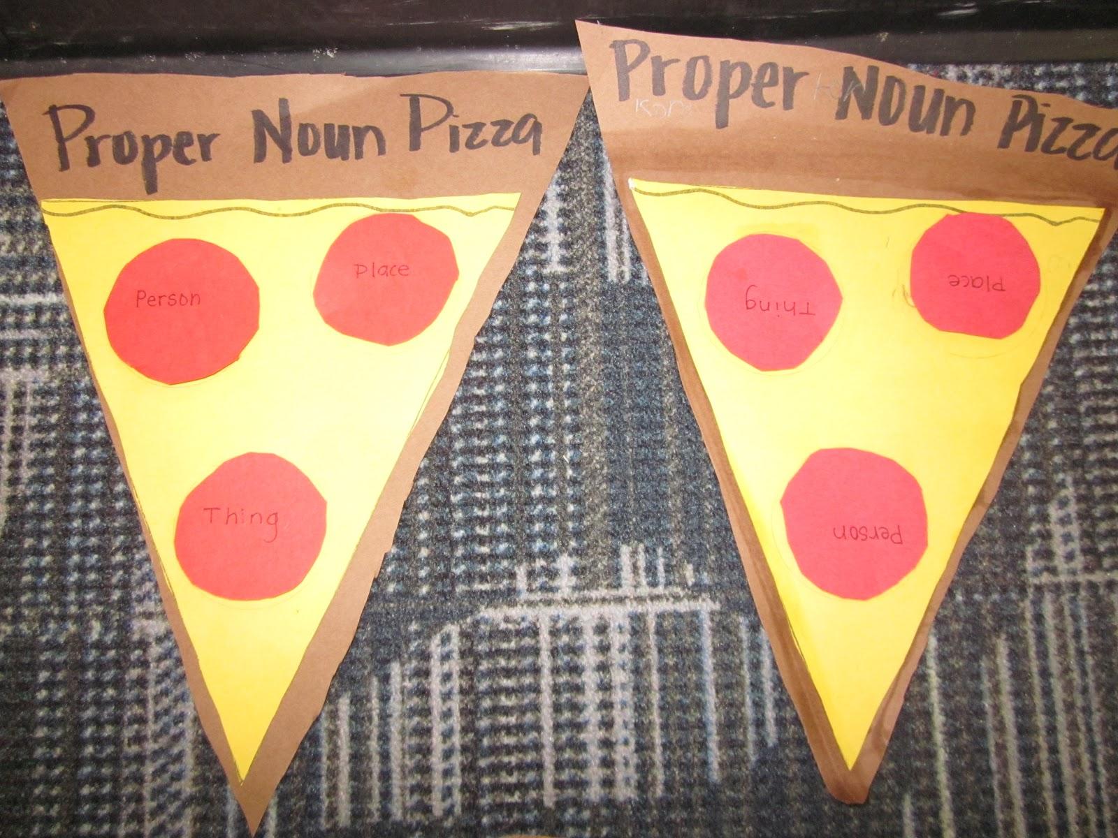 First Grade Fairytales Proper Noun Pizzas A Freebie