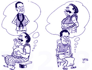 Mahinda has formed separate list .... Susil, Anura not in Maithri's Committee Mahinda appears to come separately!