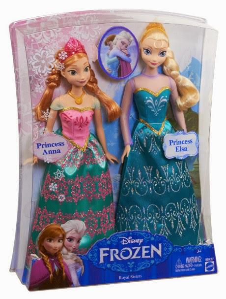 TOYS : JUGUETES - DISNEY Frozen  Pack Muñecas Anna & Elsa - Hernanas y Princesas : Royal Sisters  Producto Oficial | Mattel BDK37 | A partir de 3 años