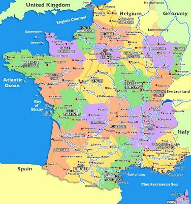 Karte von Frankreich Region Politisch