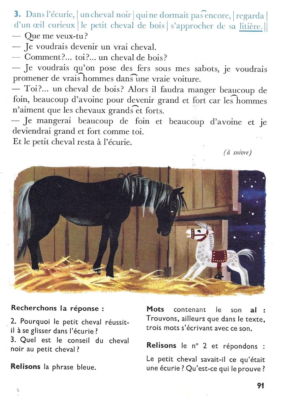 Célèbre école : références: Le petit cheval de bois (lecture courante CP-CE1) VI95