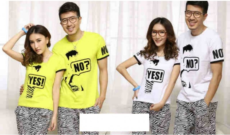 Jual Kaos Yes No Couple Online Murah di Jakarta Lengan Pendek Trendy