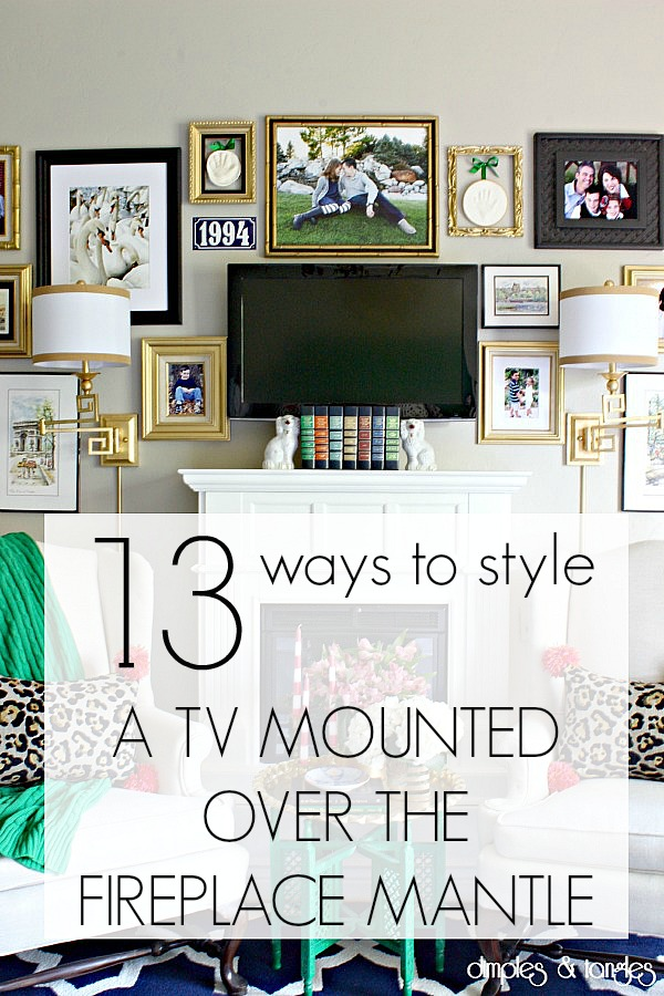 Styling A Fireplace Mantle With A Tv Dimples And Tangles