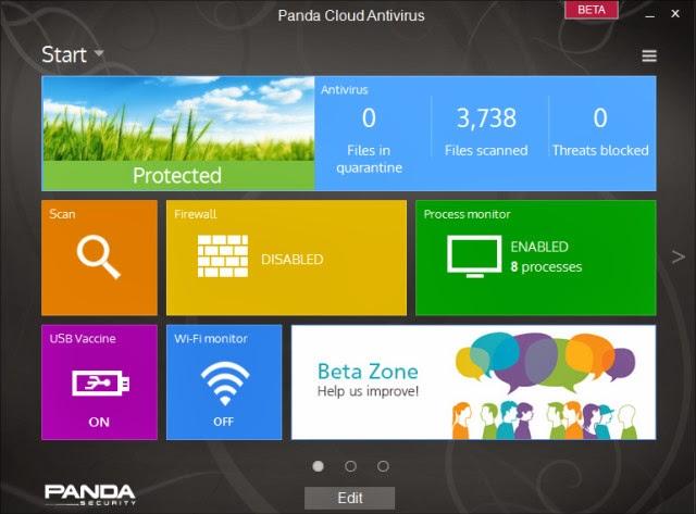 صورة من برنامج الانتي فيرس باندا Panda Cloud Antivirus