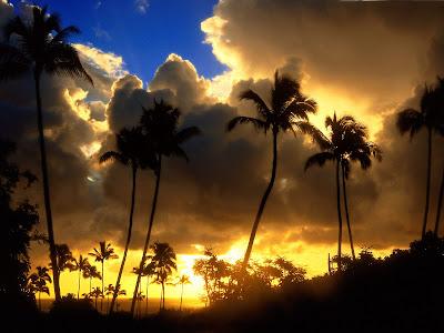 Kapa'a Sunrise, Kauai, Hawaii Wallpaper