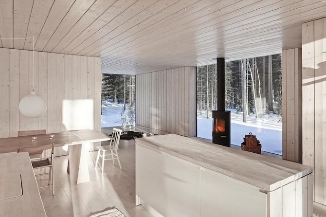 Una cabaña finlandesa en la nieve arquitectura, casas   deco & chic