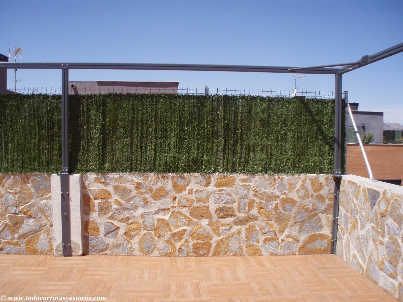 Decoracion interior cortinas verticales estores for Pergolas aluminio precios