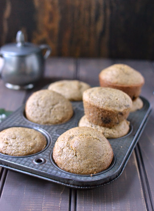 Almond Butter-Chocolate Chip Muffins