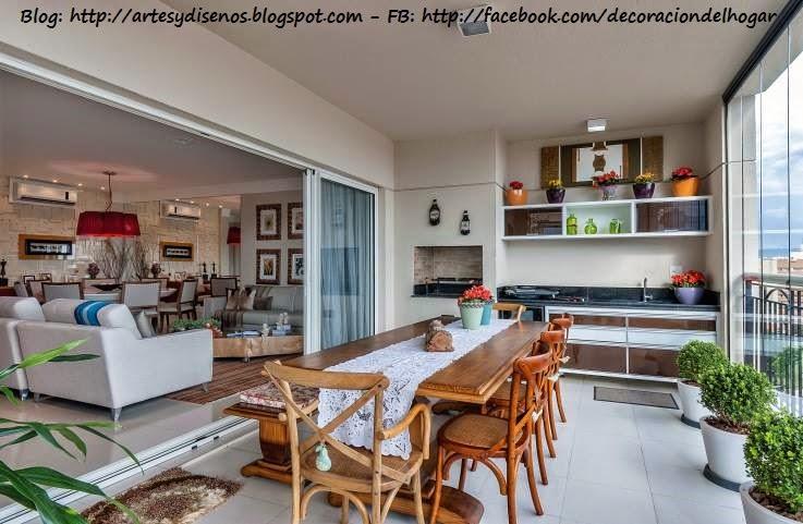 decoraci n de terraza integrada con cocina decoraci n