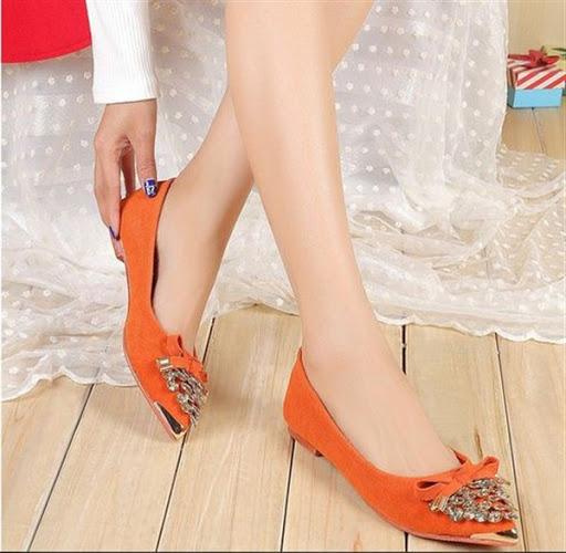 model sepatu flat ala korea desain casual elegan terbaru 2017/2018