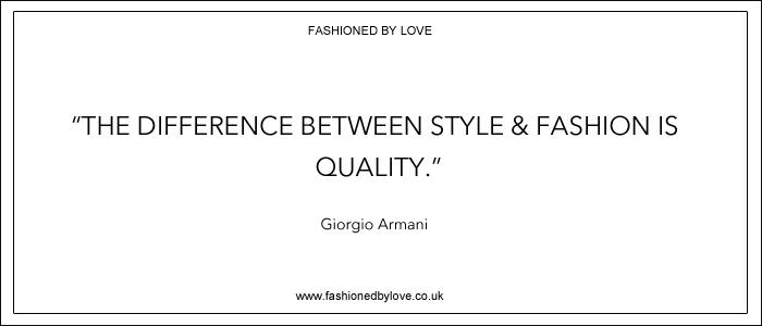 via fashioned by love | best fashion & style quotes | Giorgio Armani