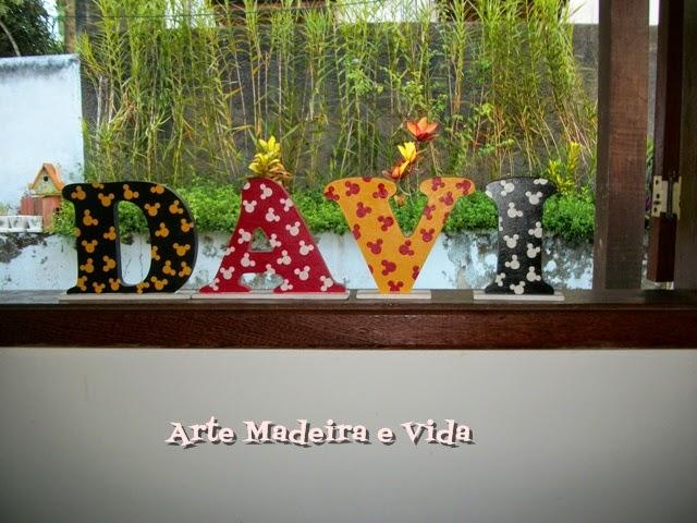 letras mdf pintadas