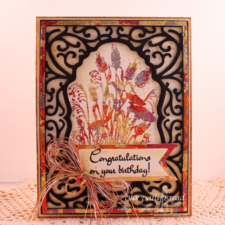 Stamps - Our Daily Bread Designs Life is a Gift, ODBD Custom Pennant Dies, ODBD Custom Vintage Flourish Pattern Die