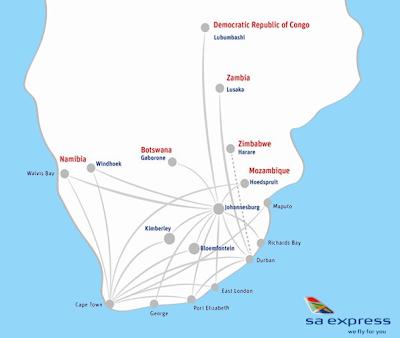 SA Express route networt