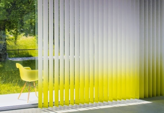 Fascinating fabric vertical blinds as sun protection solutions