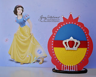 princess snow_white birthday invitations