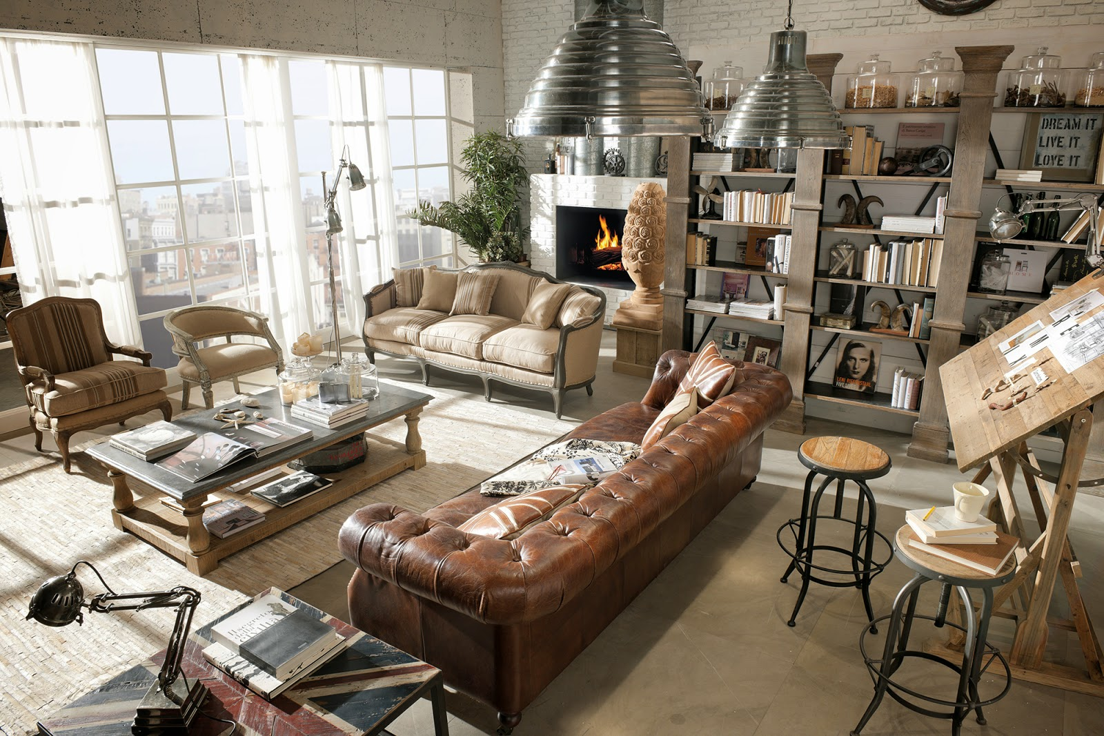 Deco dialma brown y su decoraci n vintage industrial for Decoracion retro industrial