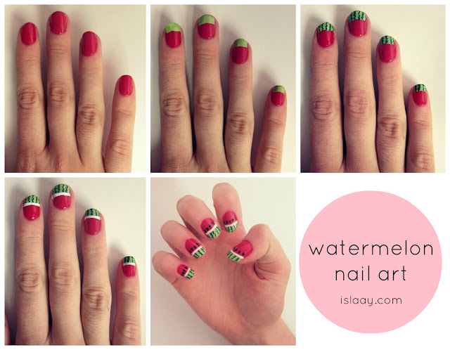 watermelon+melon+notd+nail+art+nails+easy+diy+blog+step+by+step ...