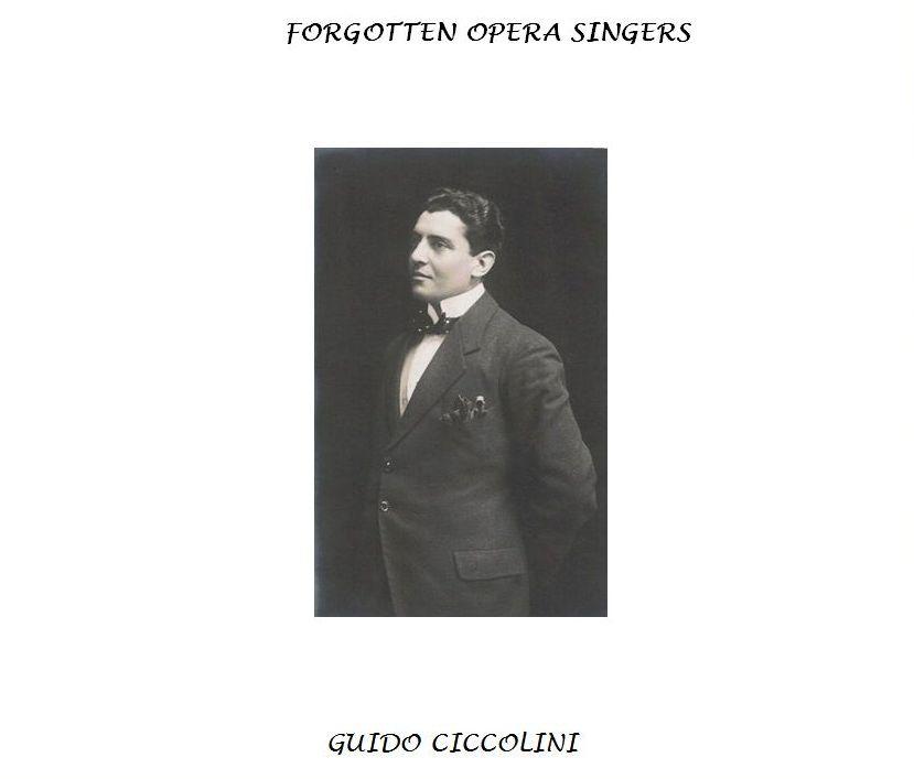 GUIDO CICCOLINI (1885 - 1963) CD