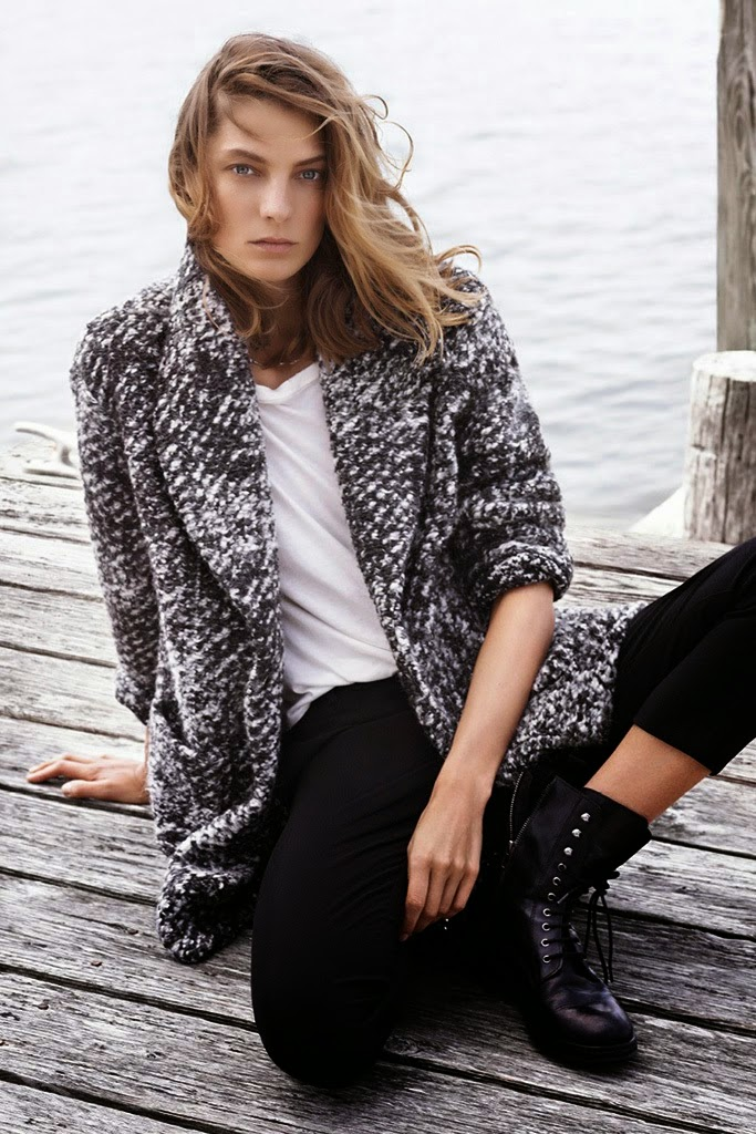 Daria Werbowy stars for Mango's Fall 2014 Lookbook