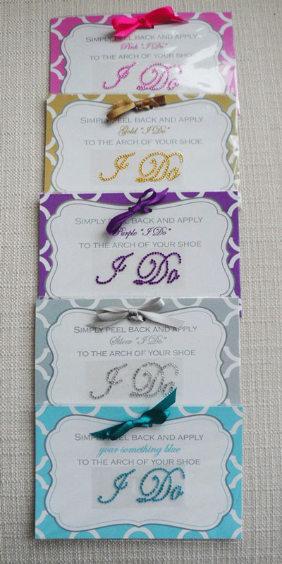 Wedding Stickers on To Our Wedding Shoe Sticker Collection Colors Just In Time For