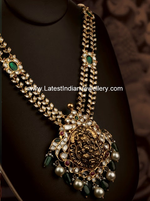 Antique gold Kundan Haram