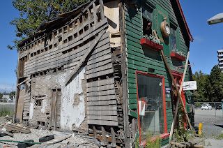 Damaged building in Christchurch