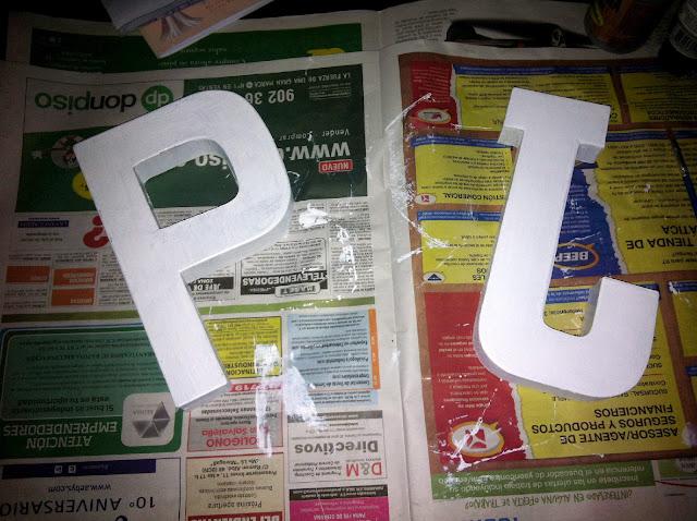 letras pintadas