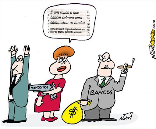 Dilma: É um roubo o que bancos cobram para administrar os fundos