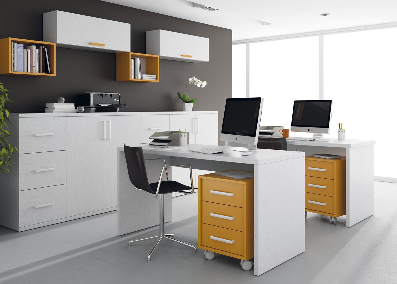 Muebles de oficina for Muebles de oficina blancos
