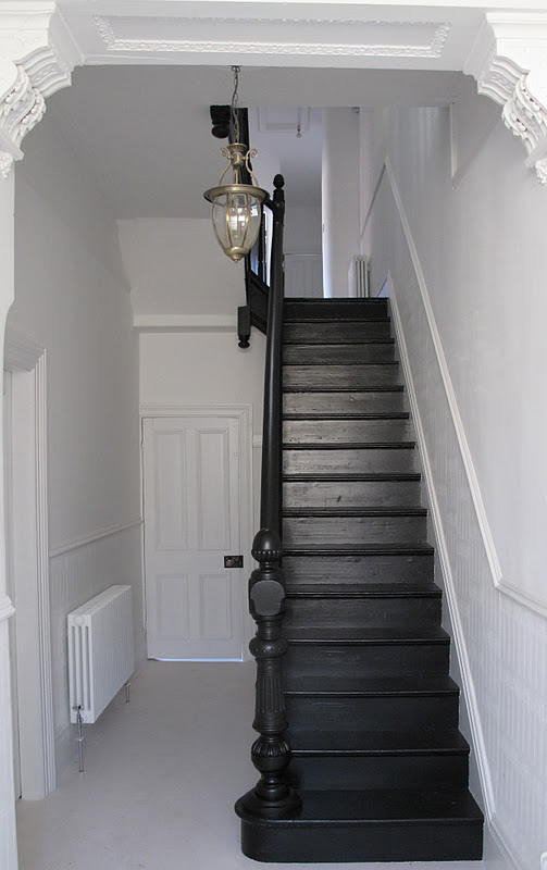 Black Painted Staircase.