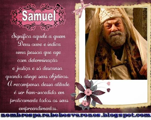 SIGNIFICADO DEL NOMBRE SAMUEL - NOMBRES BÍBLICOS