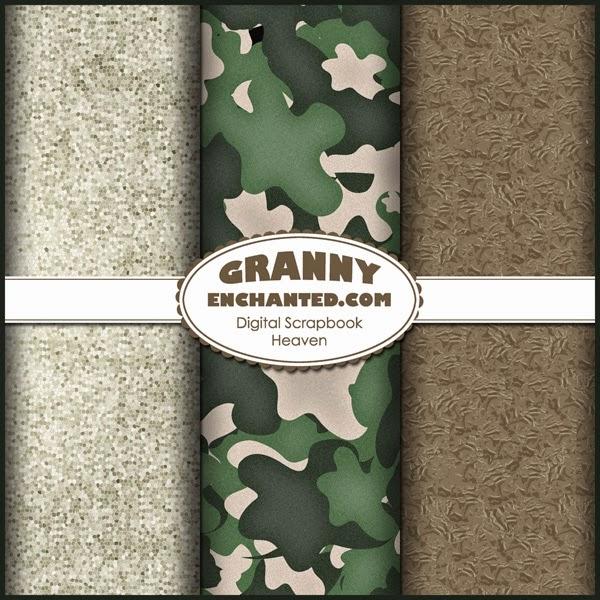 Granny Enchanteds Blog Free Digital Scrapbook Paper Camo