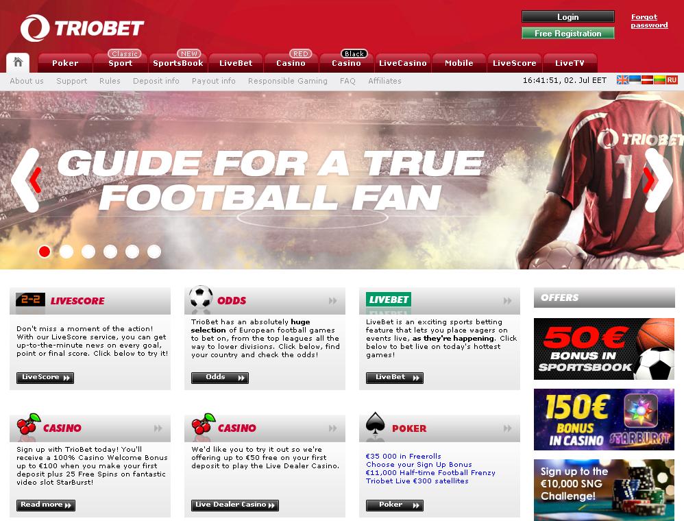 TrioBet Screen